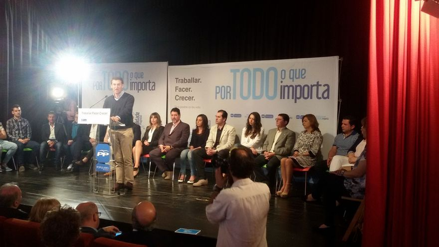 """Feijóo previene contra las coaliciones: """"La crisis que podemos crear el 24-M es una crisis institucional"""""""