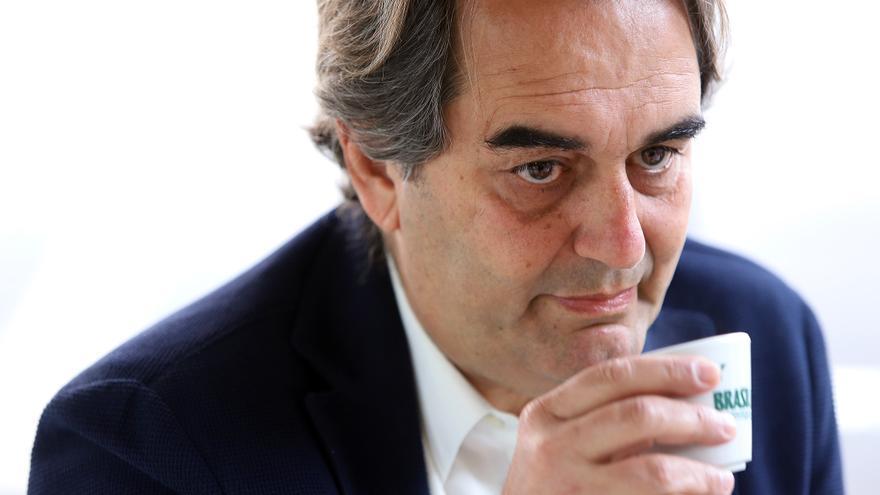 Pedro Fernández Arcila, en otro instante de la charla periodística