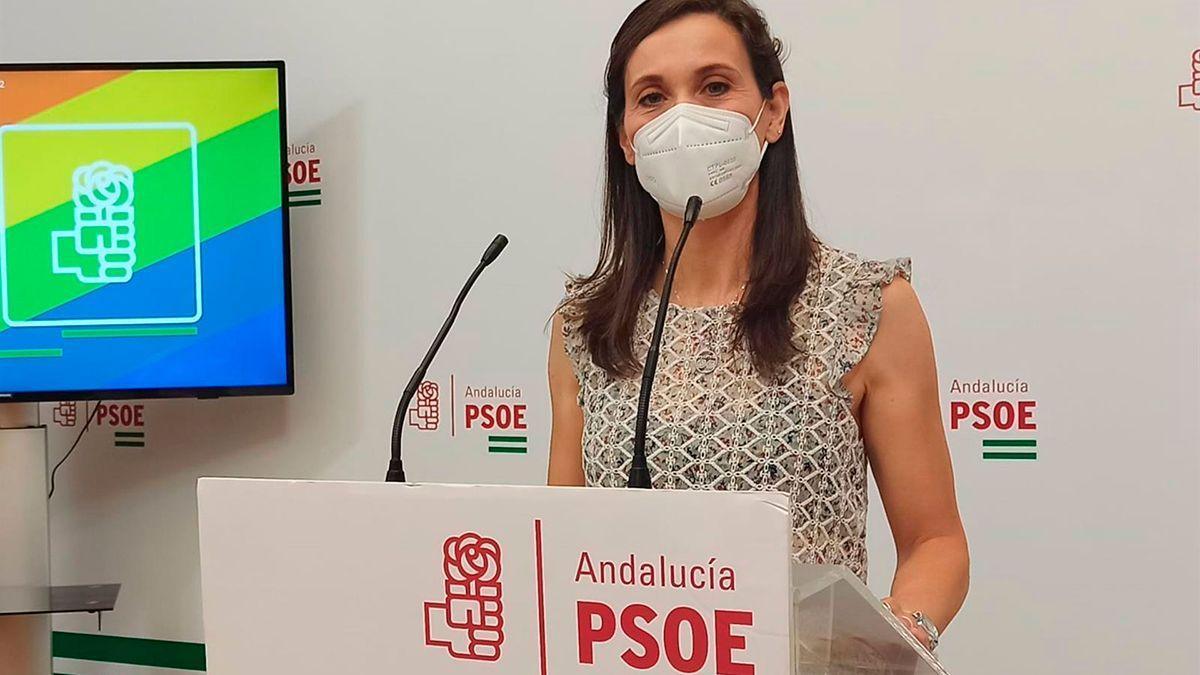 Teresa Romero en la sede el PSOE de Córdoba.