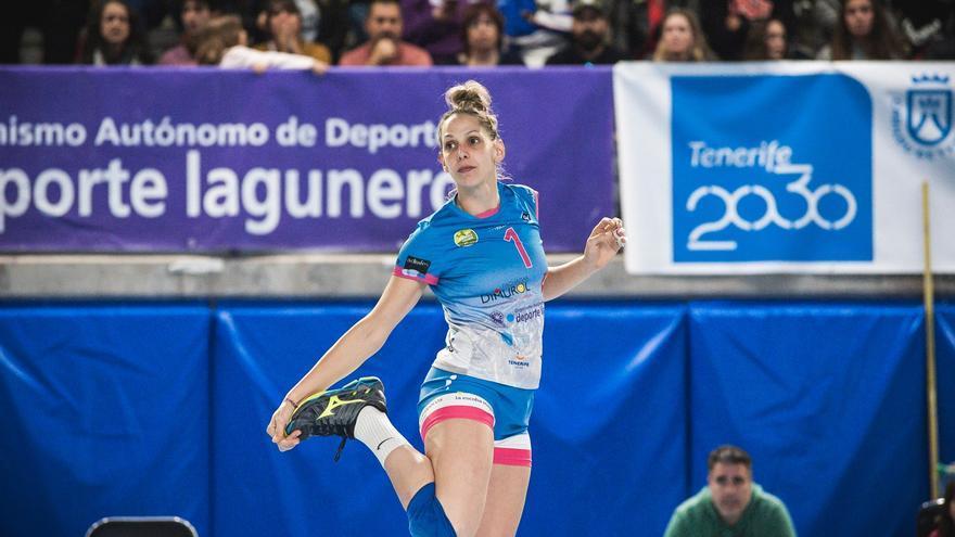 Patricia Suárez durante un encuentro de la pasada temporada