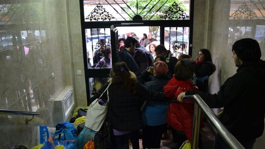 Imagen del desahucio de Rosa Padilla, el pasado diciembre | N.C.