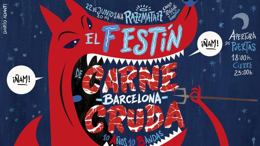 Cartel Festín Crudo en Barcelona