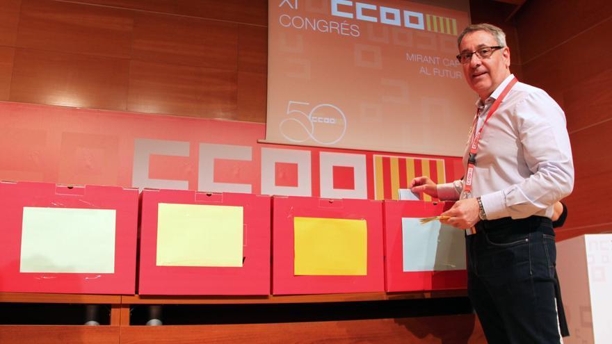 El secretario general de CCOO PV, Arturo León, en el XI Congreso del sindicato celebrado esta semana