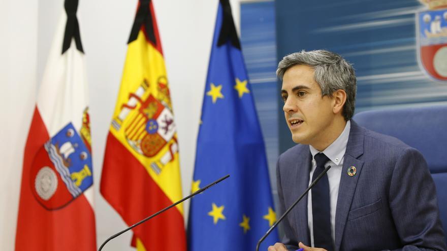 Pablo Zuloaga en la rueda de prensa telemática posterior al Consejo de Gobierno. | LARA REVILLA