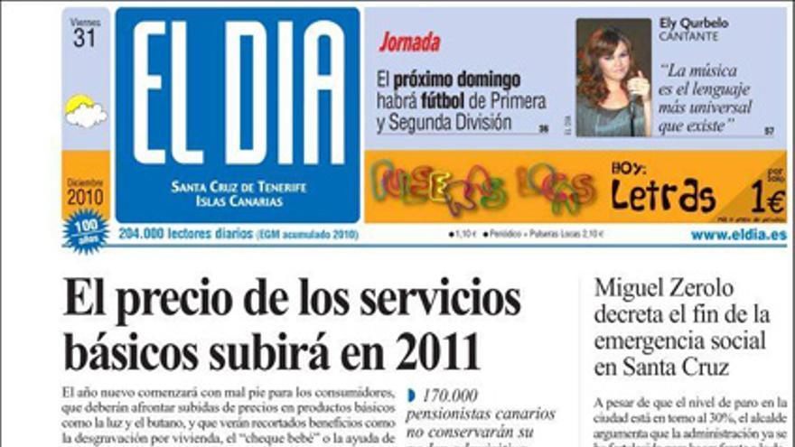 De las portadas del día (31/12/2010) #5