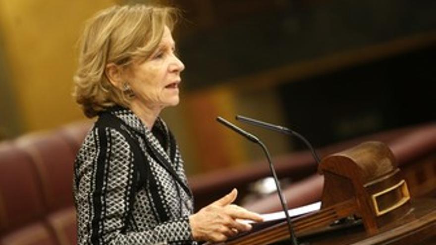 Ministra de Economía, Elena Salgado, en el Congreso