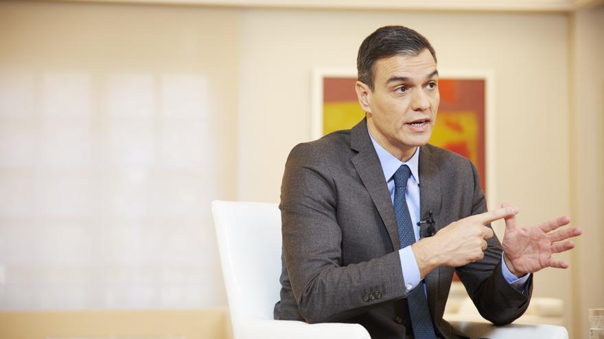 Pedro Sánchez en una entrevista para eldiario.es