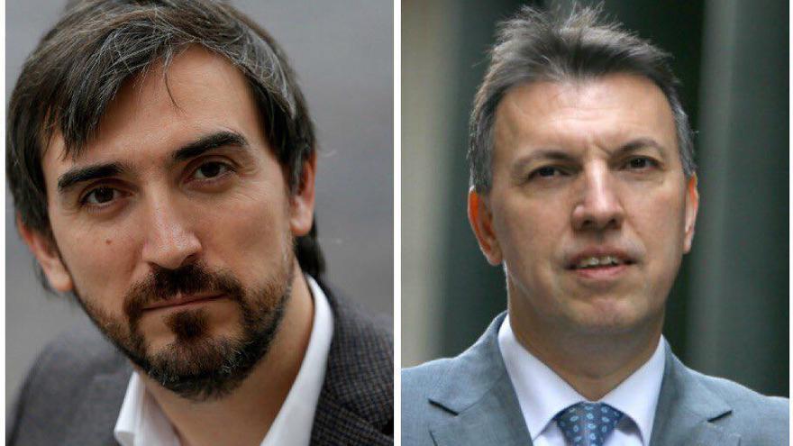 Ignacio Escolar, director de eldiario.es y Joaquim Bosch,portavoz territorial de Jueces para la Democracia