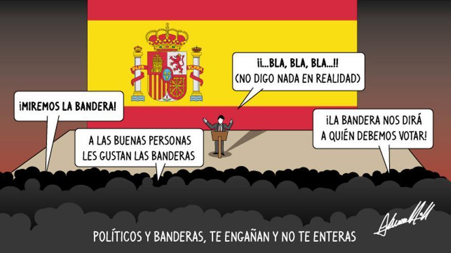 Políticos y banderas