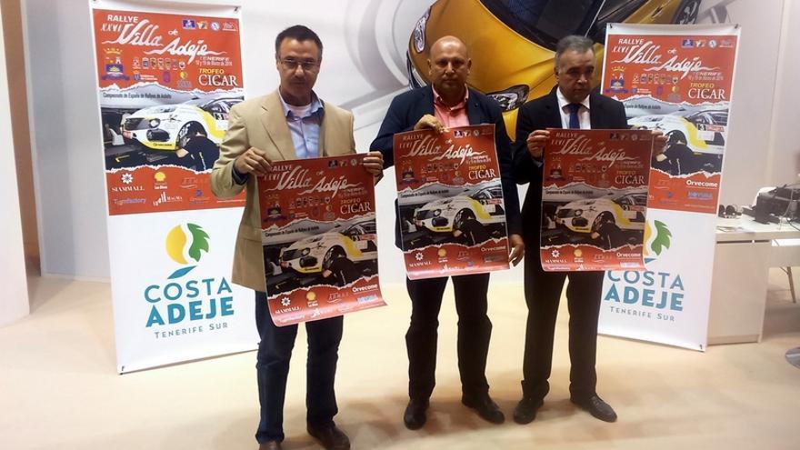 Presentación del Rally Villa de Adeje Tenerife en Fitur