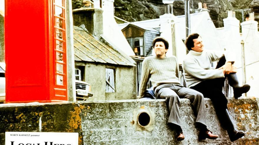 Escena de la película Local Hero, rodada en Pennan (Escocia).