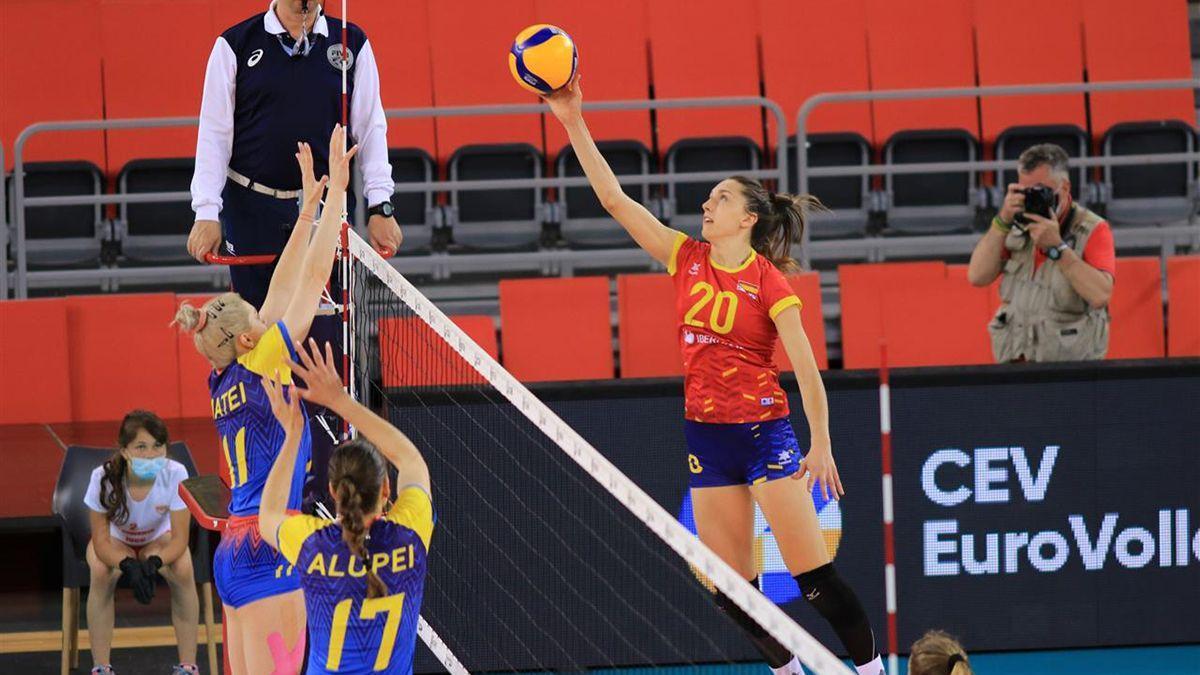 Raquel Montoro, con la selección española