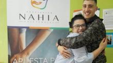 Miembros de la asociación Nahia.