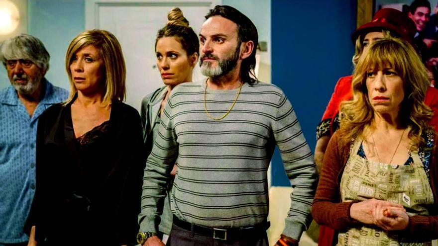 Ricardo Arroyo, Eva Isanta, Vanesa Romero, Fernando Tejero y Nathalie Seseña en 'LQSA'