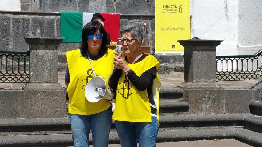 Un momento del acto celebrado en la Plaza de España.