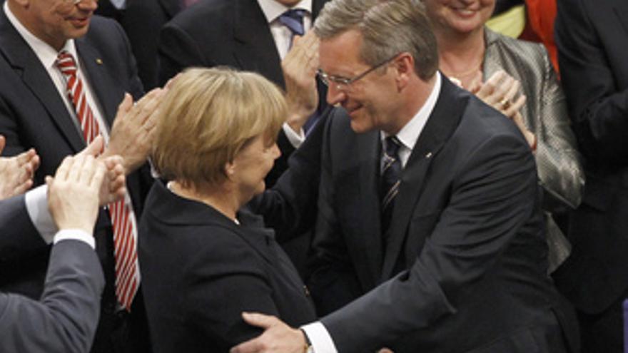 Christian Wulff y Angela Merkel