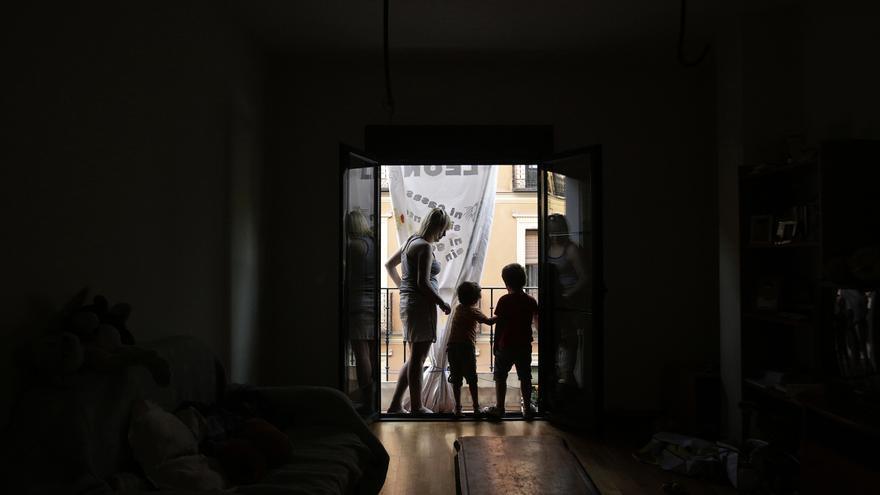El bloque ocupado en Madrid íntegramente por mujeres, La Leona. /Olmo Calvo