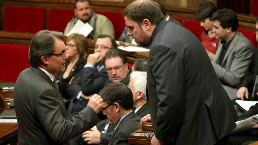 Mas ha sido reelegido presidente de la Generalitat con los votos de ERC. (EFE)