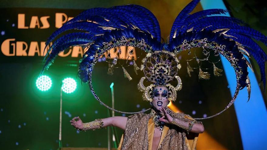 Drag Chuchi, ganador de la gala de elección del Drag Queen del carnaval de Las Palmas de Gran Canaria.