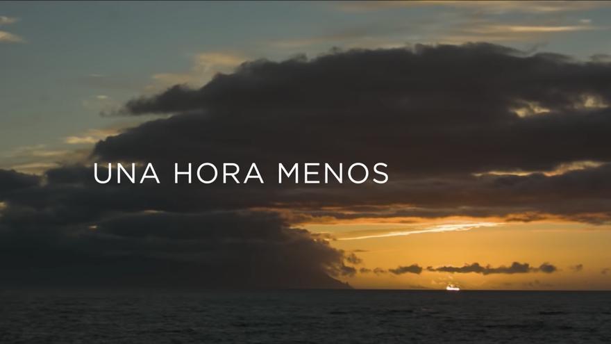Captura del vídeo promocional de las 'campanadas canarias'.