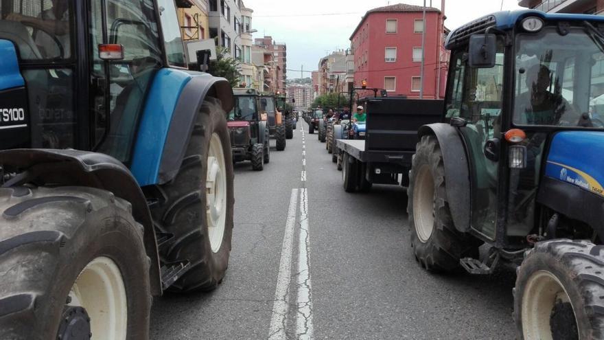 Tractorada en Fraga.