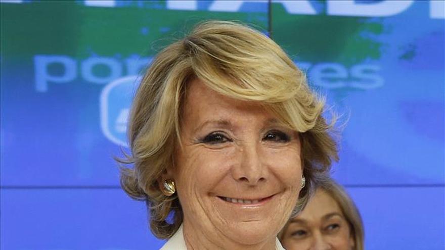 Esperanza Aguirre: a Artur Mas le apoya Bildu