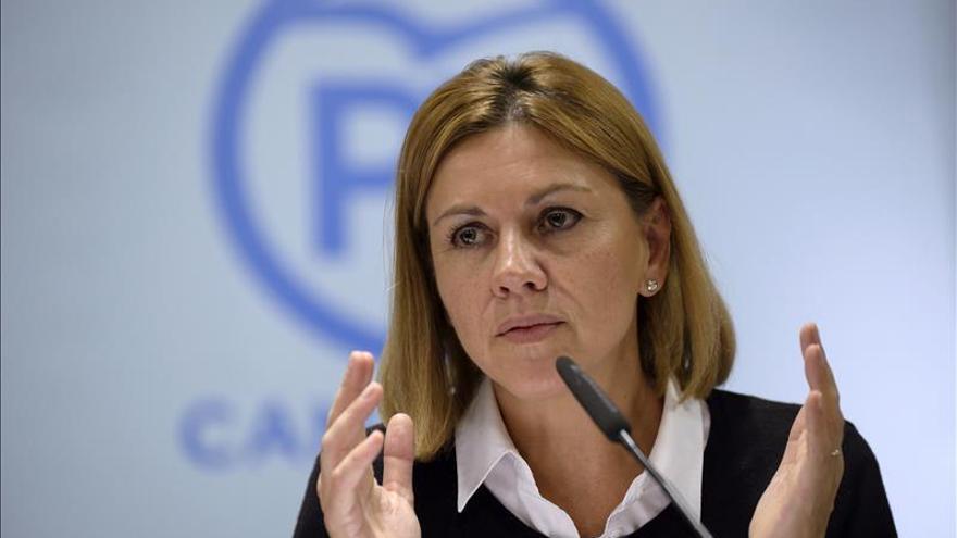 Cospedal: Rajoy es fundamental cuando hay un desafío a la nación
