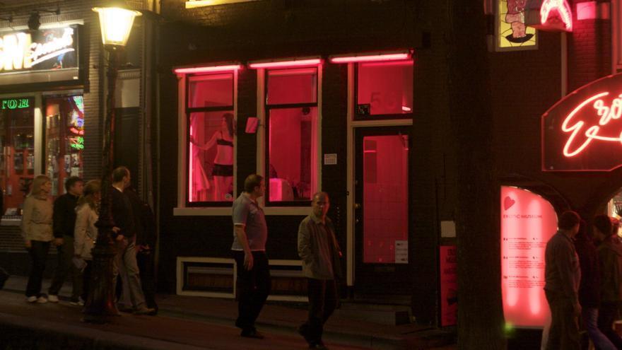 Barrio rojo de Ámsterdan. Foto: Gina Collecchia