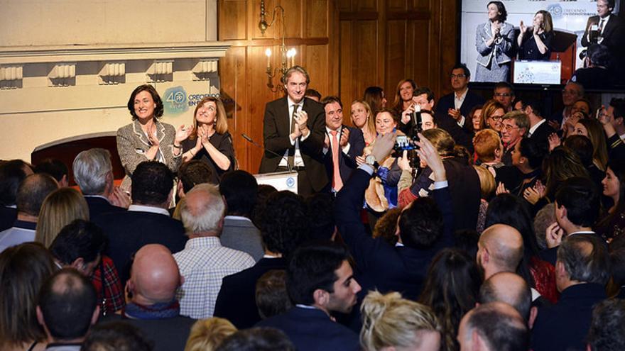 El PP celebró su cena oficial este viernes en el Palacio de La Magdalena.