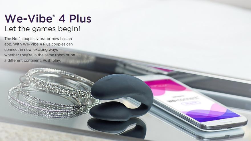 Imagen con la que We-Vibe promociona su 'vibrador espía' en la web de la compañía
