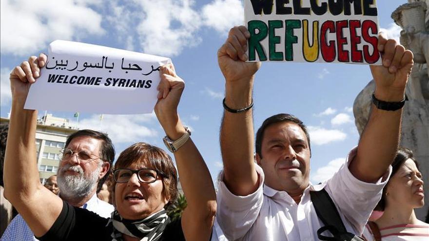 Tensión en Lisboa entre partidarios y detractores de la acogida de refugiados