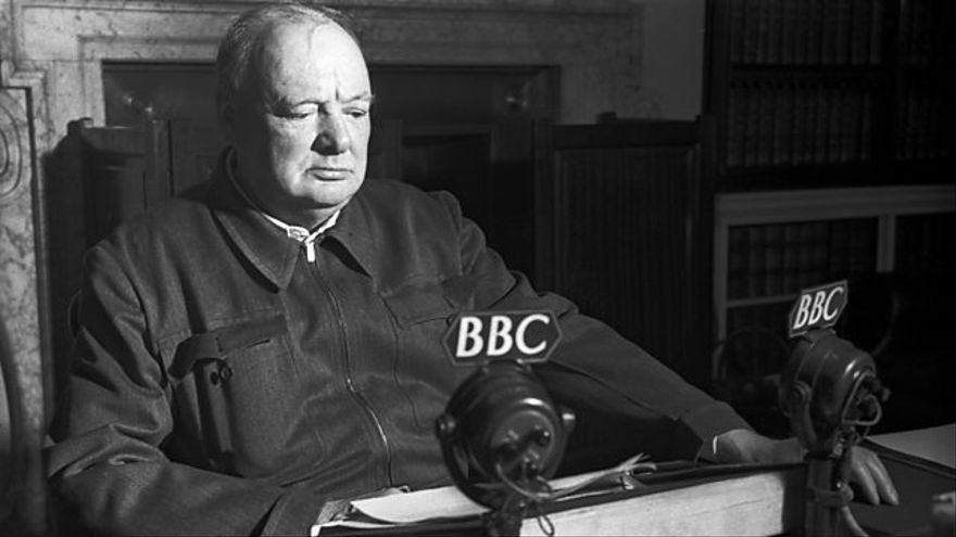 Winston Churchill en la BBC