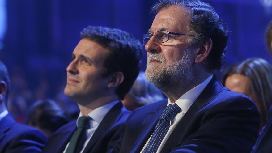 Mariano Rajoy junto a Pablo Casado en la última Convención del PP