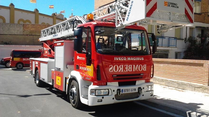 El Parque de Bomberos de Huesca capital cuenta en este momento con 34 bomberos y dos jefes