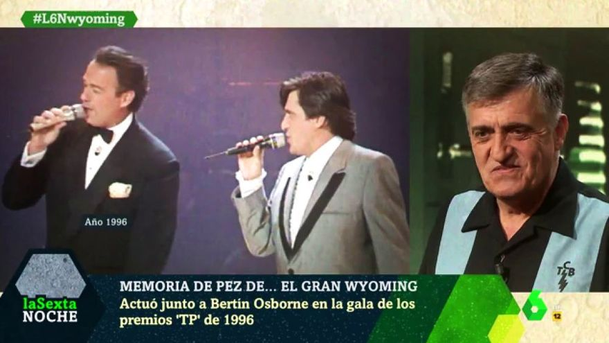 'laSexta Noche' rescata la actuación a dúo de Bertín Osborne y El Gran Wyoming en los 90