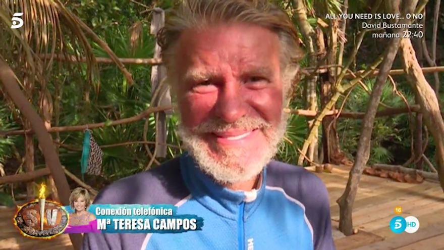 Bigote rompe a llorar con el mensaje de María Teresa Campos: 'Te amo'