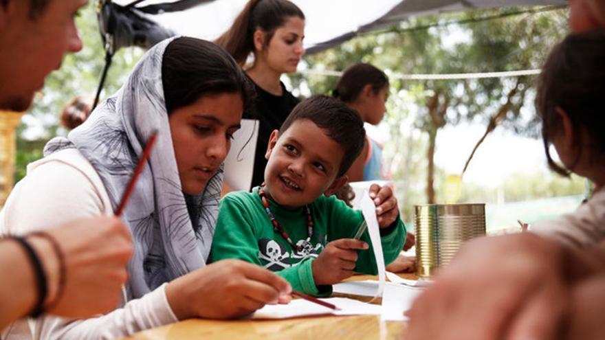 Refugiados en el campo de Mytilene, en Lesbos, Grecia // Giorgos Moutafid for AMNESTY INTERNATIONAL