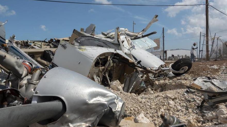 Vista de los estragos causados por el huracán Dorian en Bahamas.