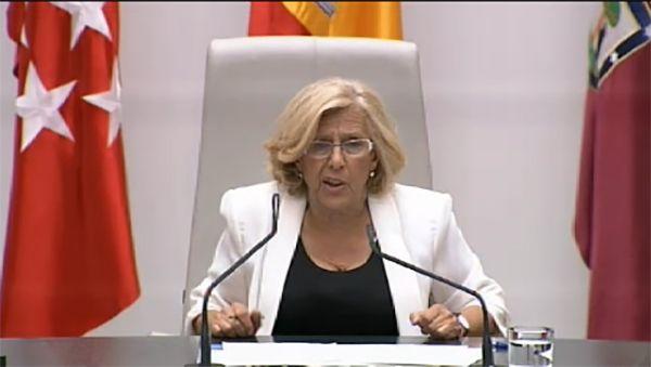 Carmena durante su discurso de investidura como alcaldesa