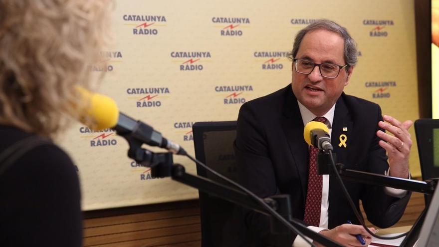 Torra condiciona la tramitación de los PGE a que el Gobierno acepte el derecho de autodeterminación