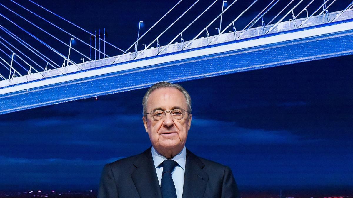 El presidente del Real Madrid y de la nueva Superliga, Florentino Pérez.