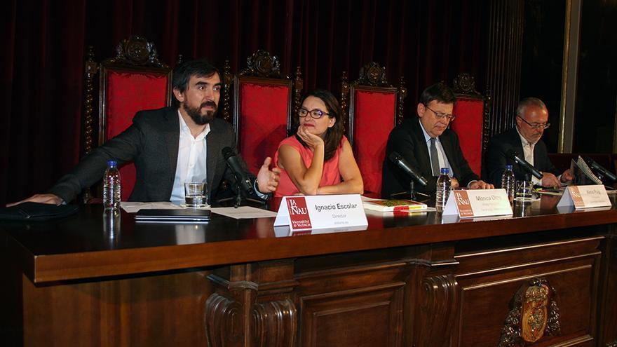Ignacio Escolar analizó junto a Mónica Oltra, Ximo Puig y Antonio Montiel los 100 días del Botànic