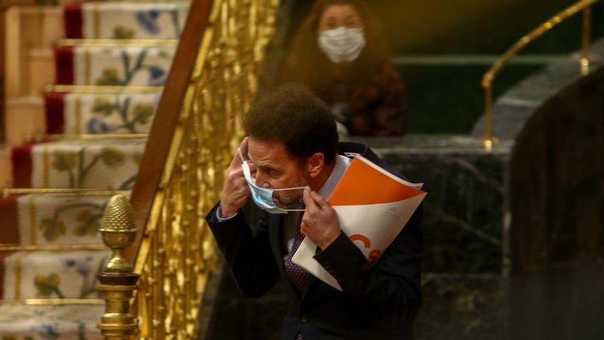 El portavoz parlamentario de Ciudadanos (Cs), Edmundo Bal, durante una sesión plenaria en el Congreso