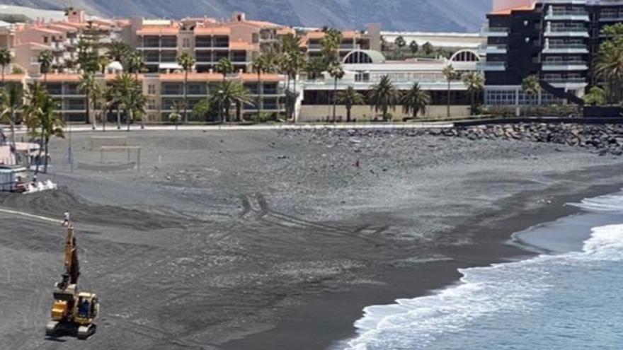 Acondicionamiento de la playa de Puerto Naos.