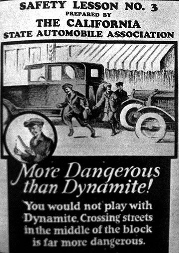Parte de una campaña de 1920 en USA (Motorland magazine