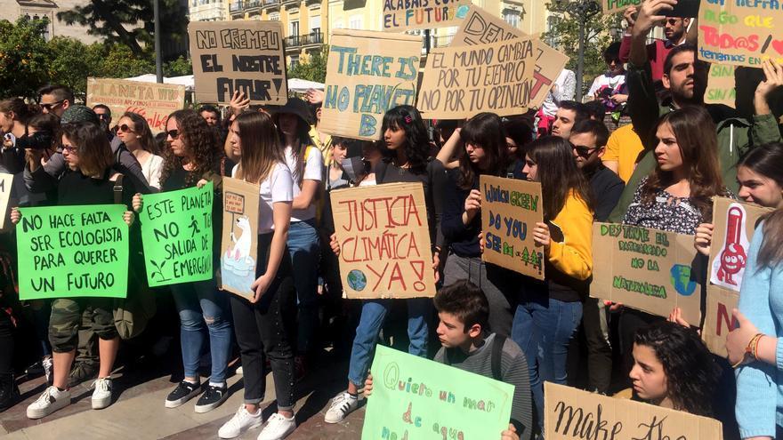 Una concentración de Fridays for Future en Valencia