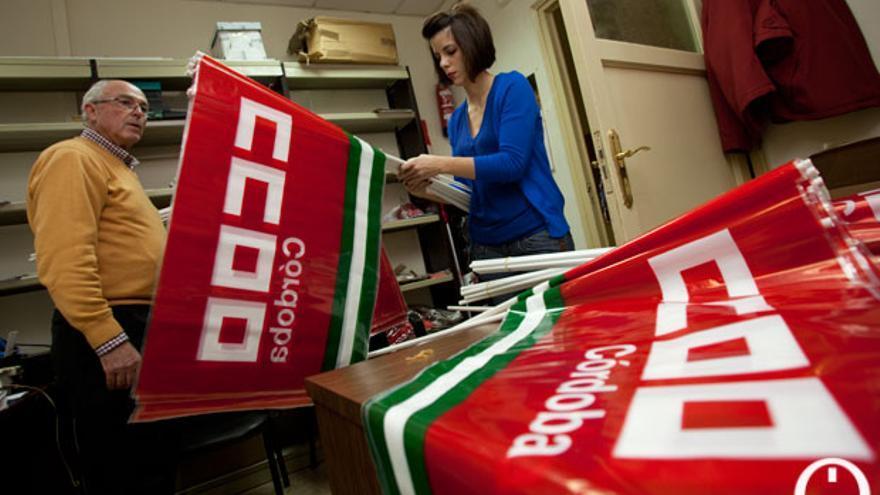 Imagen de archivo de sindicalistas de CCOO. | MADERO CUBERO