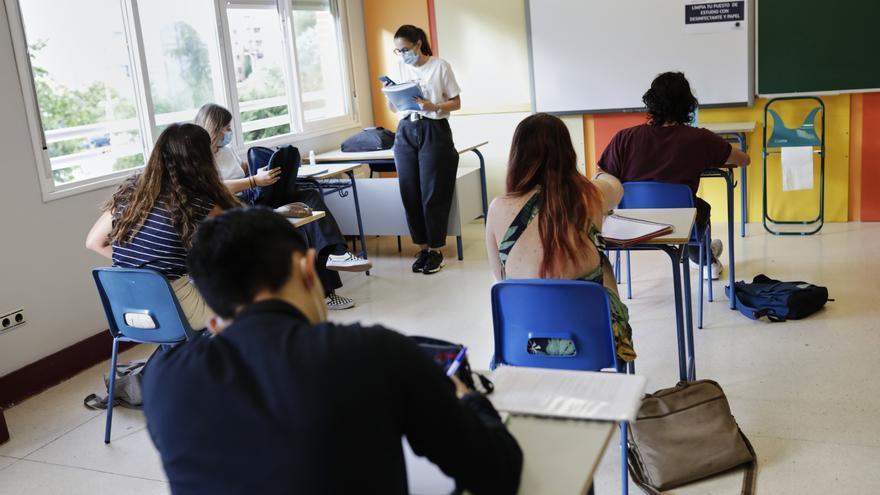 Alumnos de 2º de Bachillerato del Colegio Alameda de Osuna, en Madrid.