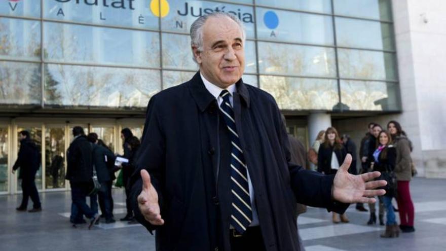 El exconseller Rafael Blasco en la Ciudad de la Justicia
