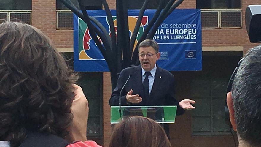 Ximo Puig en el 'Dia Europeu de les Llengües'
